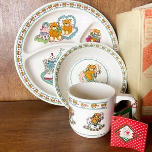 Vintage 1984 Enesco Lucy and Me Plate and Bowl Set